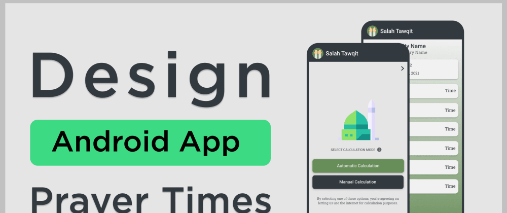 Cover image for Android app design, logo & colour palette