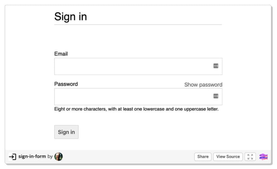 Sign-in form best practices