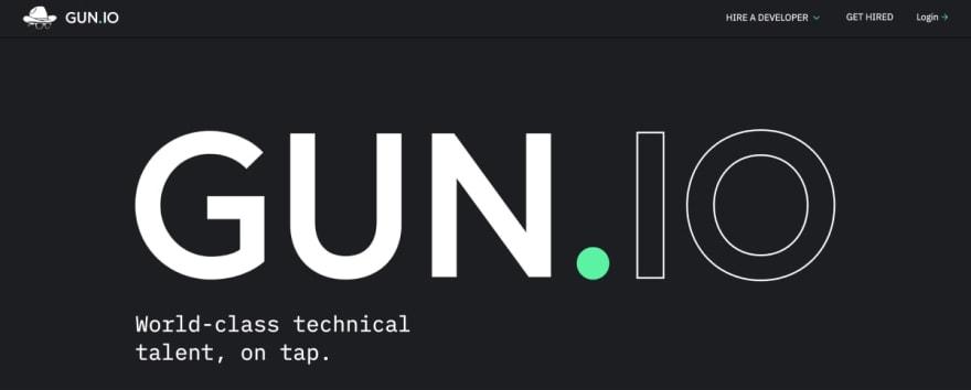 Gun.io website
