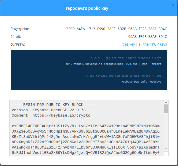 GPG Keys dari keybase.io