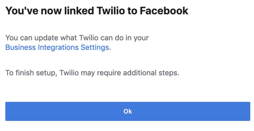 linked Twilio Autopilot to Messenger image