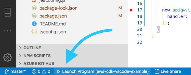 VSCode start debugging