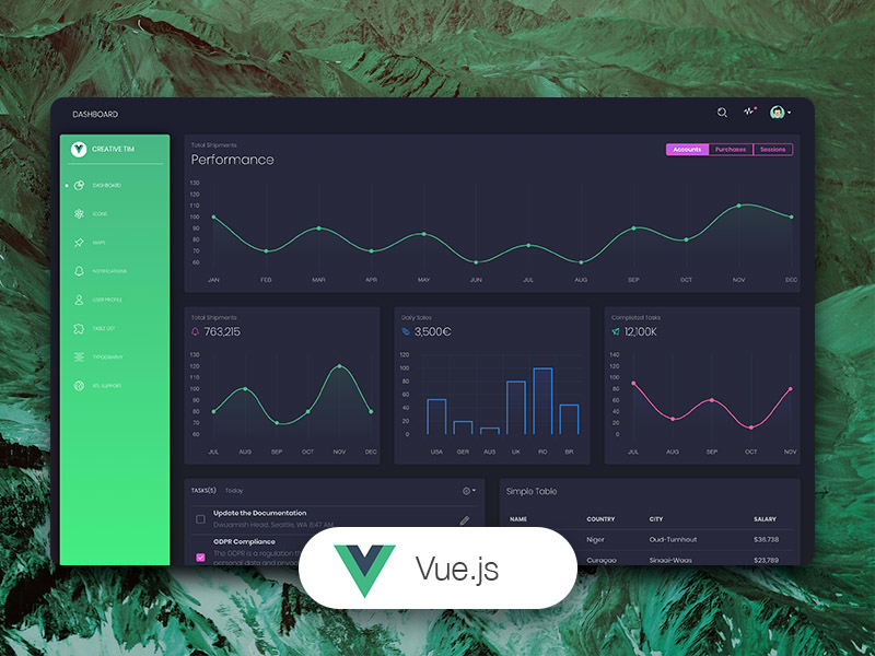Black Dashboard - Vue Version, product thumb image.
