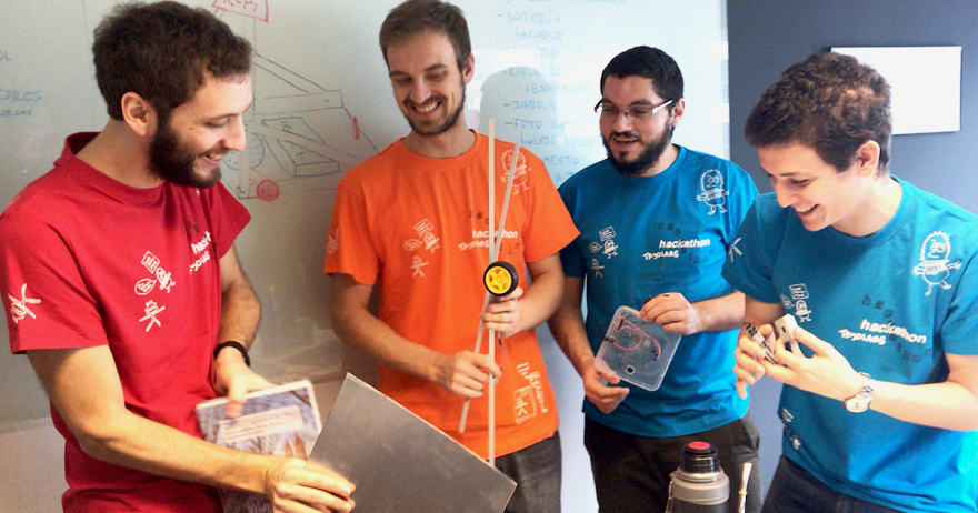 Hackathon team: Joaquín, Braulio, Javier and Lucas.