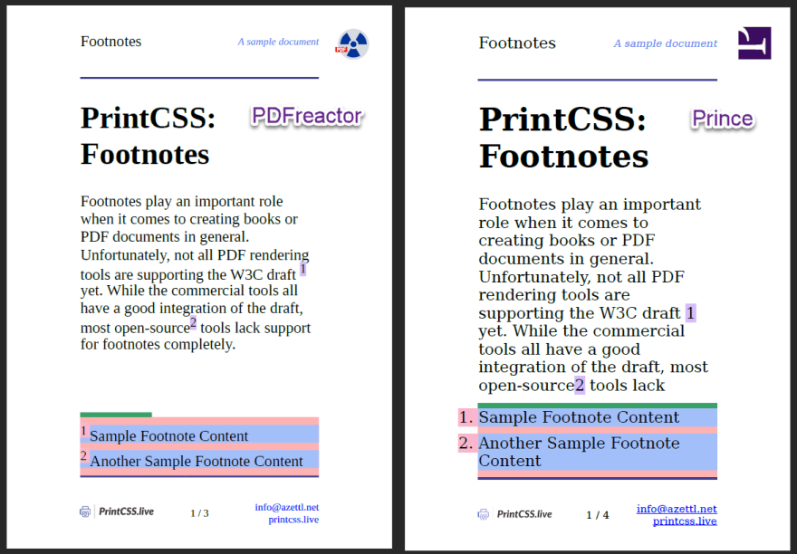 Footnotes rendered with PDFreactor and Prince.