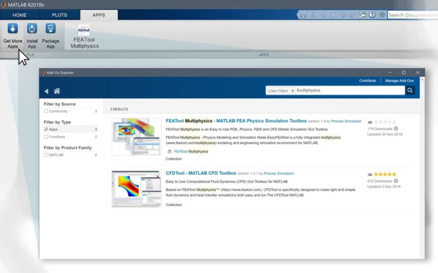 FEATool Multiphysics Toolbox available as MATLAB Add-On