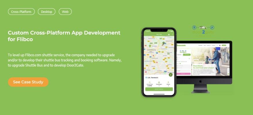 Custom bus ticket booking app development case study for Flibco | Ascendix Tech