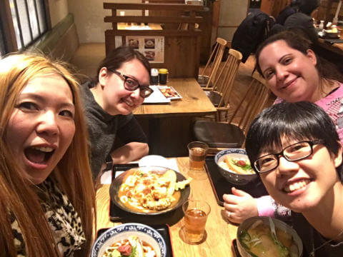 Dinner with Tomomi, Myrsini and Melanie