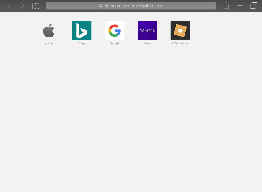 Bookmark icon on iOS