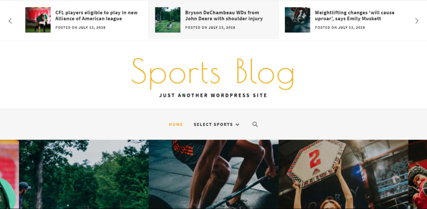 Sports Blog is a modern free sports WordPress theme