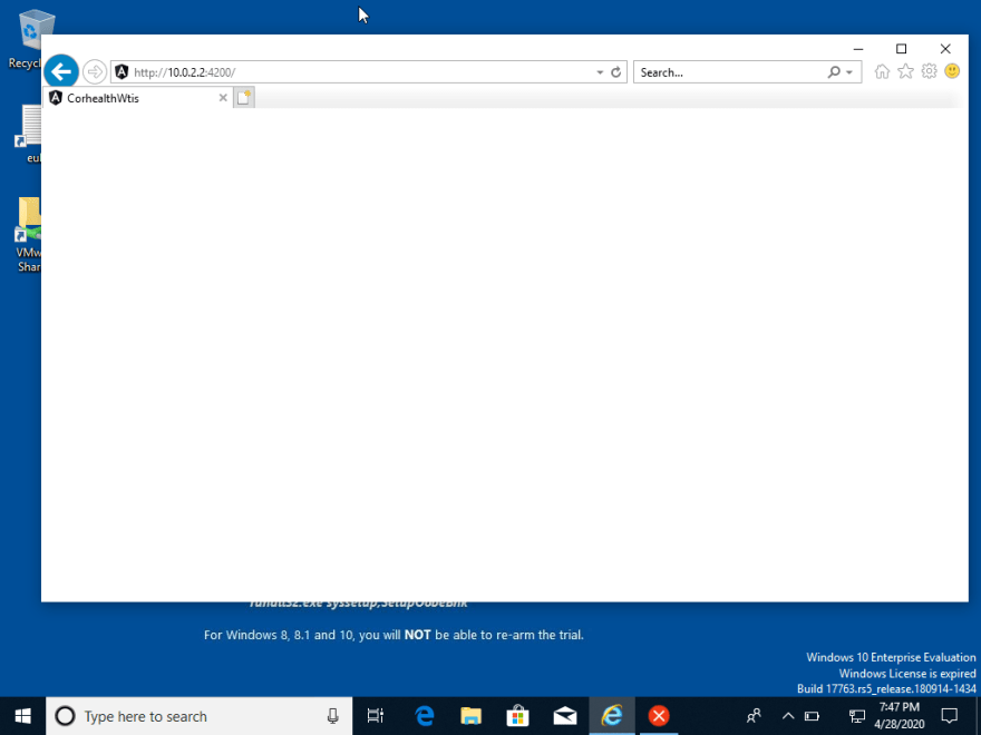 Login page that doesn't render on IE 11