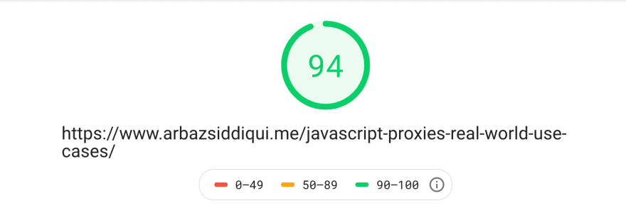 PageSpeed numbers for a React based Gatsby blog