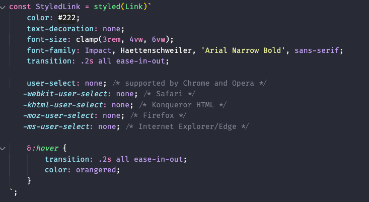How styled links component should look