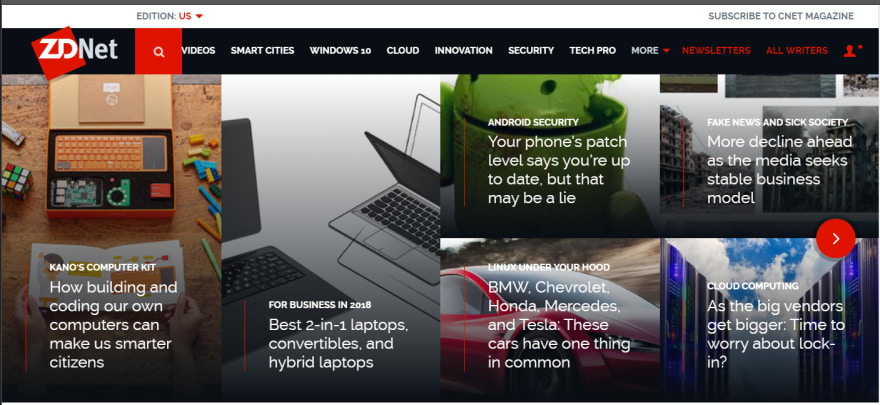 ZDNet home page