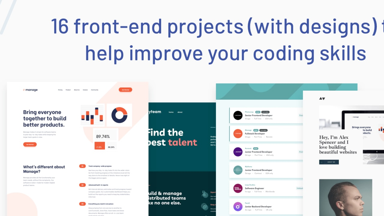 12 front end projects with designs to help improve your coding ...