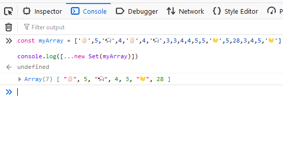 Remove duplicate elements from the array
