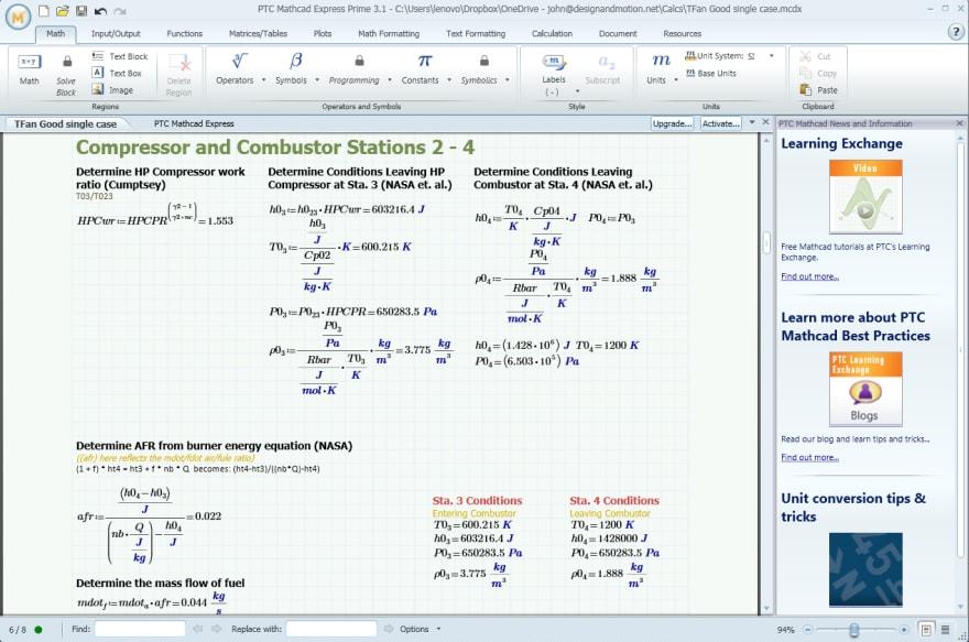 Mathcad screenshot (Google images)