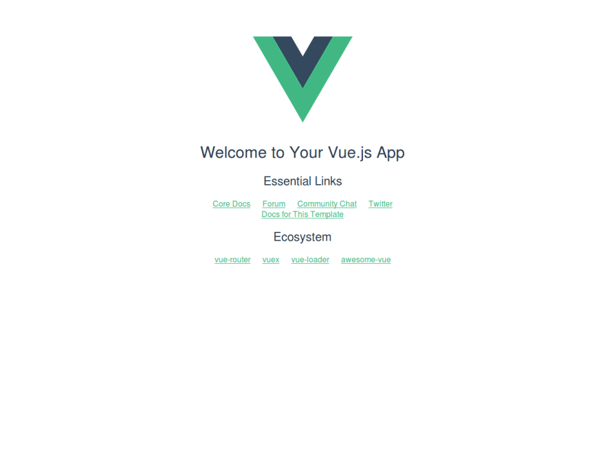 Vue application