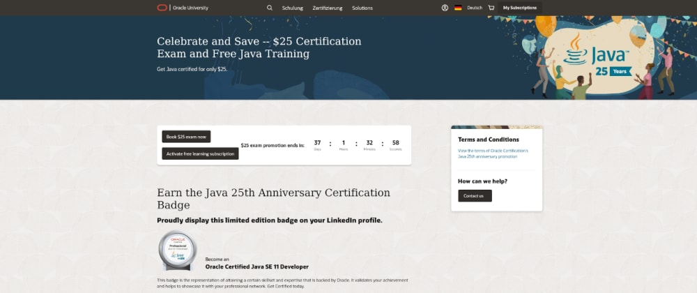 Cover image for My Experiences with the Oracle Java 11 Developer Certification
