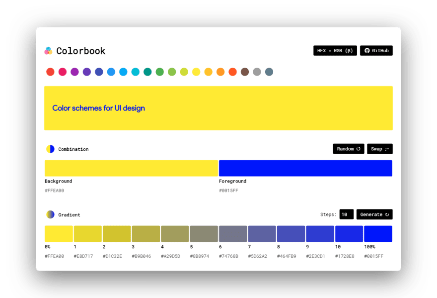 I created an easy way to create color combination schemes