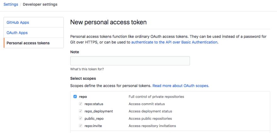 Github Personal Token