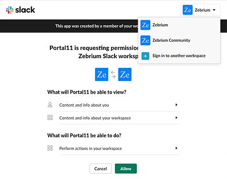 Zebrium Slack App