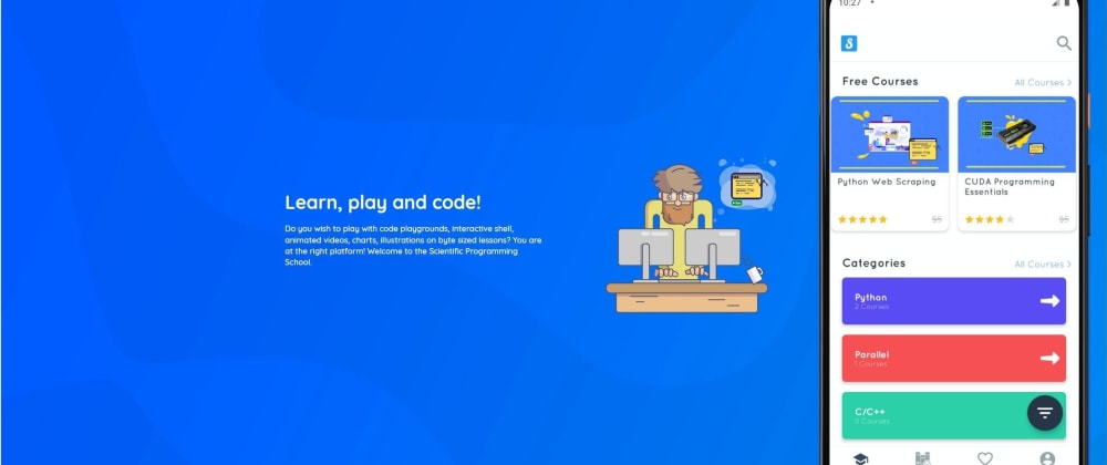 Cover image for Scientific Programming School — Mobile App