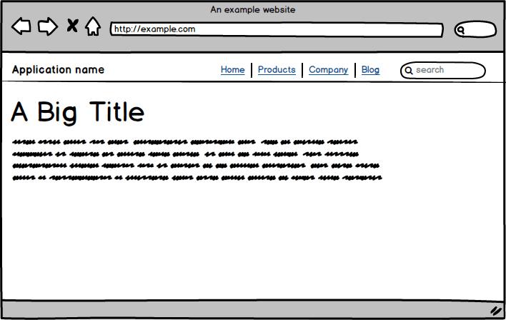 A website mockup