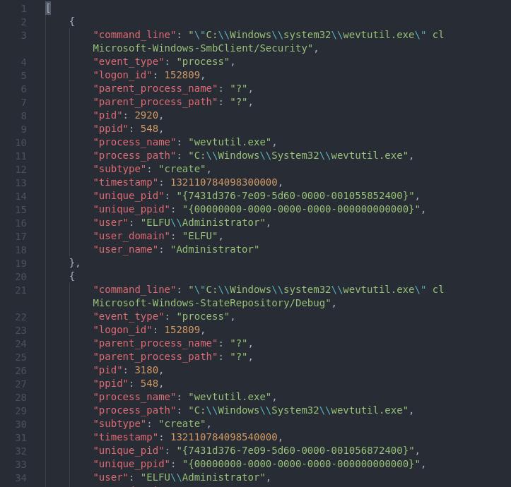 Sysmon log file