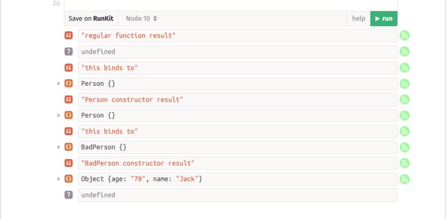 Alt JavaScript constructor's result