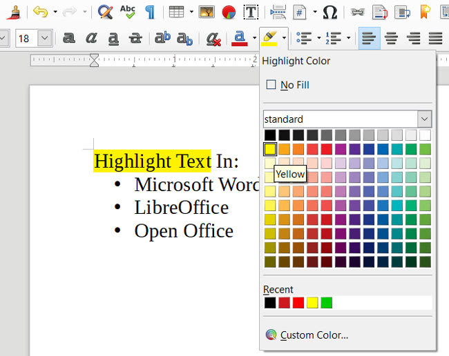 How to highlight text in Word