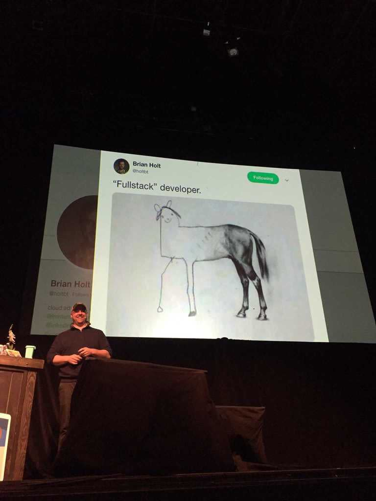 image of a horse's ass that says full stack developer