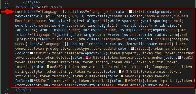 Insert Prism CSS