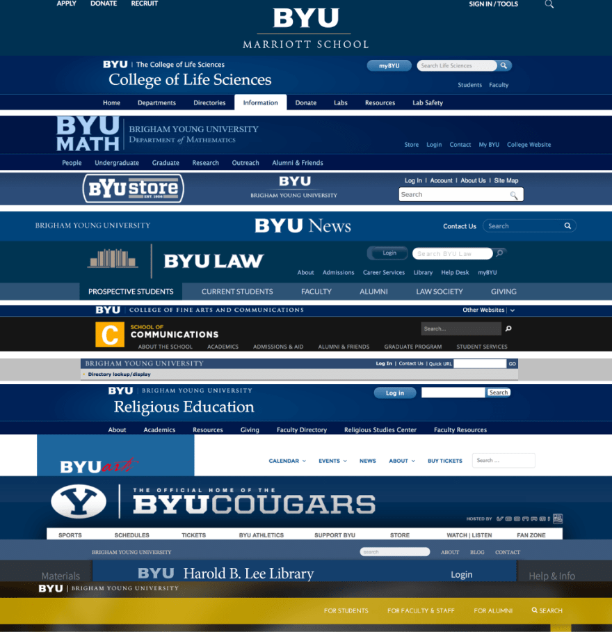 Selection of inconsistent BYU pages