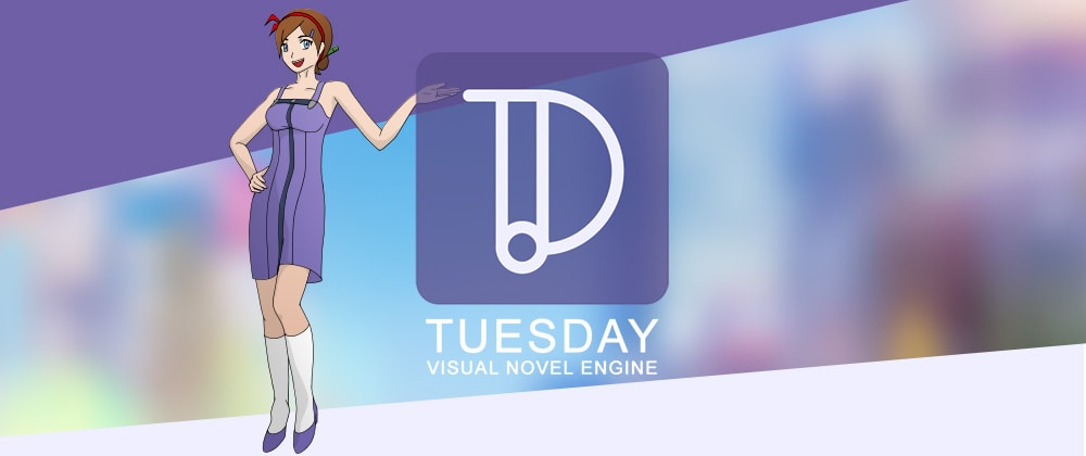 Cover image for Tuesday JS visual novel engine (open source)
