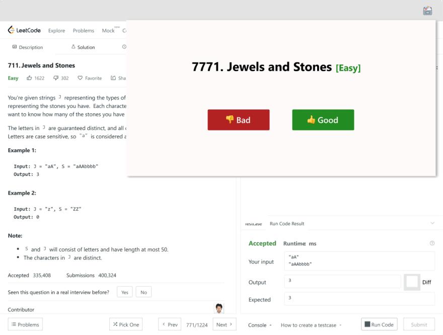 LeetCode problem rating