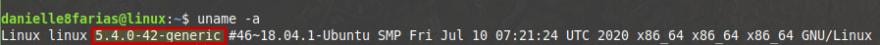 versão kernel release