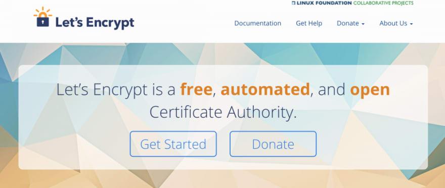 Lets Encrypt Homepage