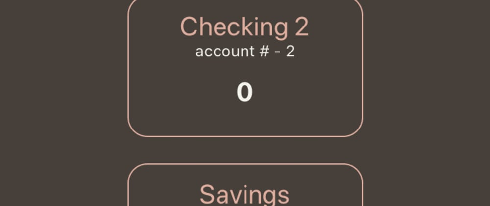 Cover image for Fake Bank - React Native
