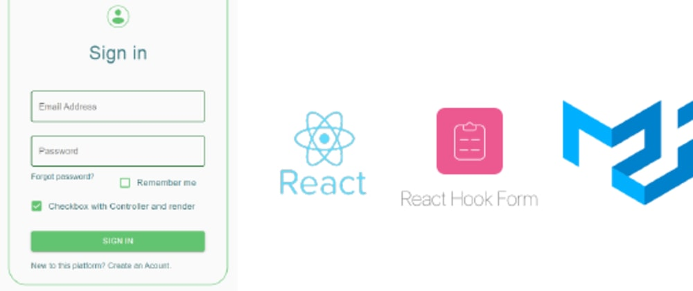 Cover image for Ultimate Form Validation in React with the awesome React Hook Form and Material-UI Libraries!