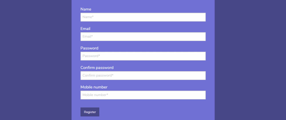 Cover image for Registration Form Using Foundation CSS