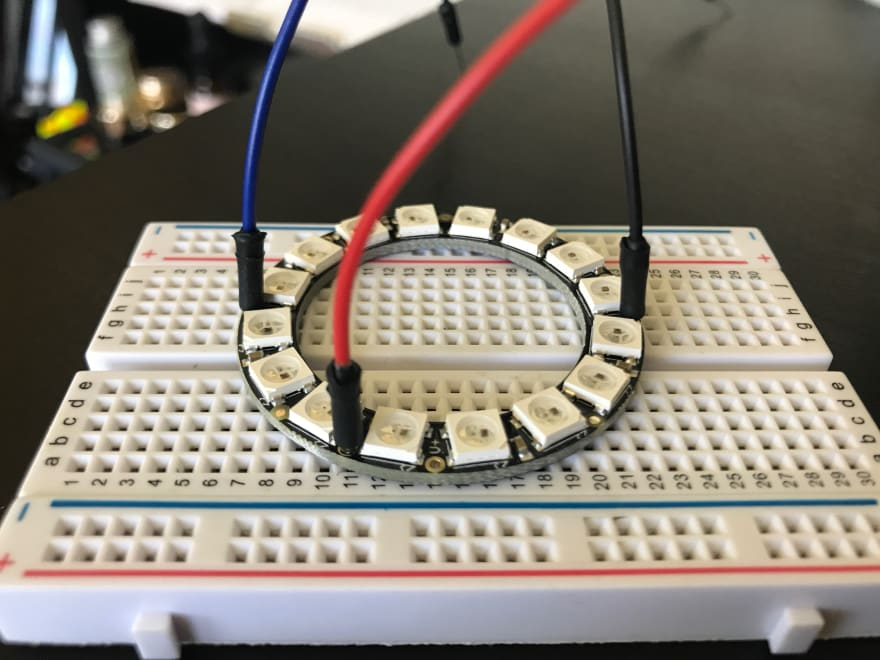 Neopixels on Breadboard