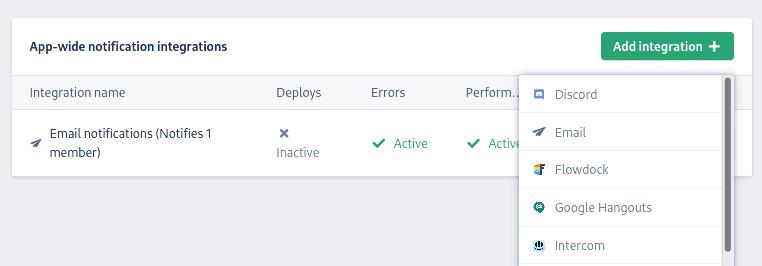 Adding an integration