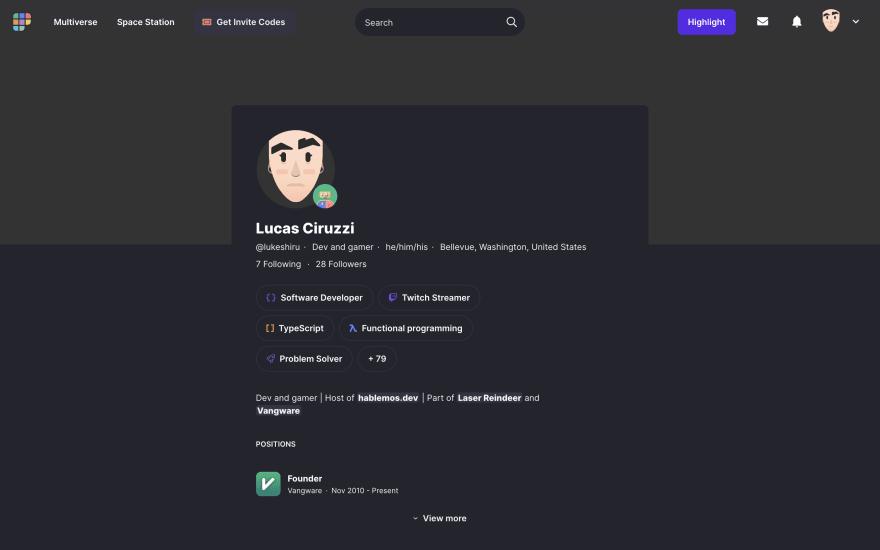 Profile screenshot