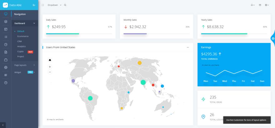 Datta-Able Admin Dashboard