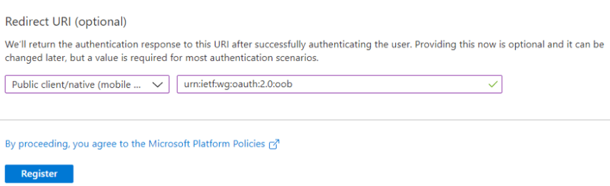Redirect URI