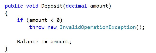 deposit negative amount code
