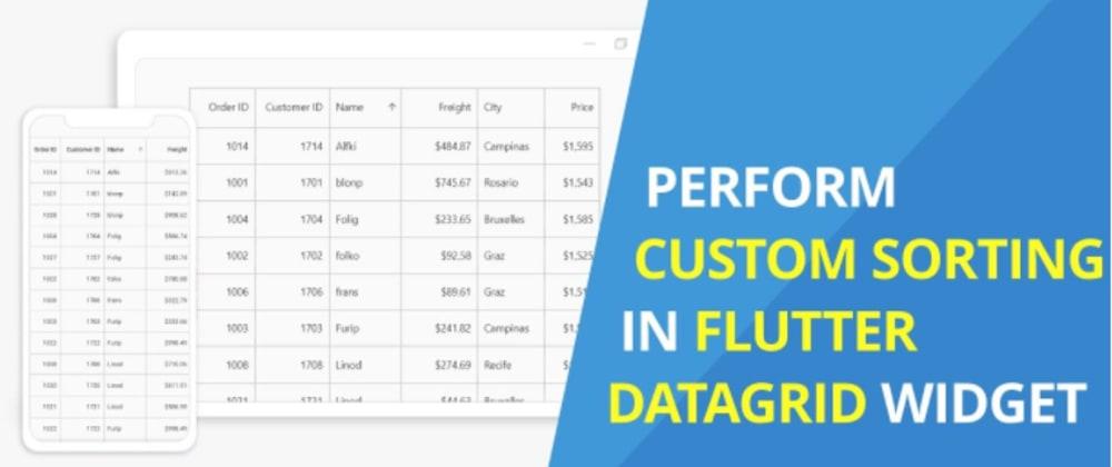 Cover image for Perform Custom Sorting in Flutter DataGrid Widget