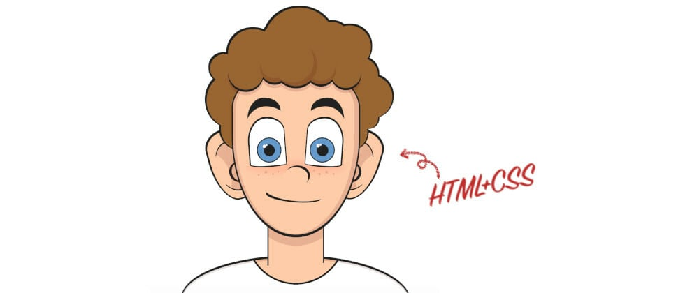 Cover Image for Drawing a cartoon with HTML and CSS (with video)