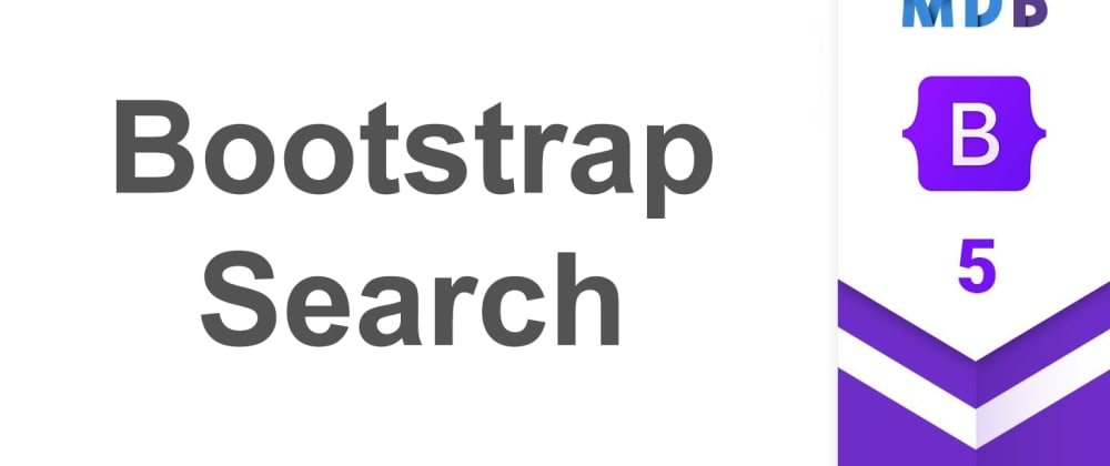 Cover image for Bootstrap 5 Search